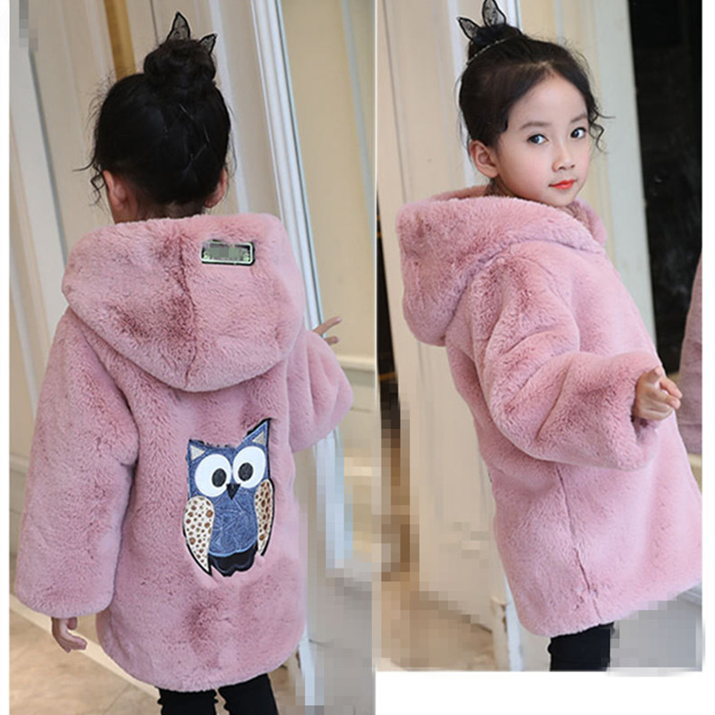 11b0ce18384d 2018 New Winter Baby Girls Clothes Faux Fur Fleece Coat Pageant Warm ...