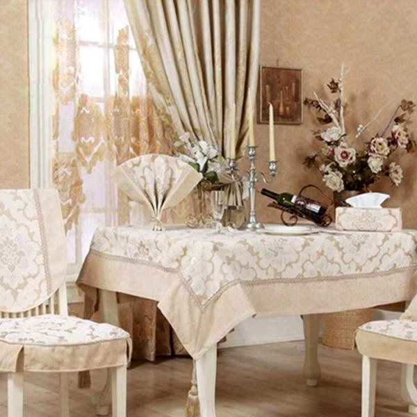 Slip Resistant Fashion Fabric Table Cloth Dining Table Cloth Fashion