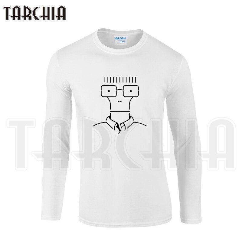 TARCHIA Free Shipping Fun Cool Lovely Men's Long Sleeve Tee Glasses Man 3D Print Homme Comfort T-Shirt Cotton tee Plus Size Boy