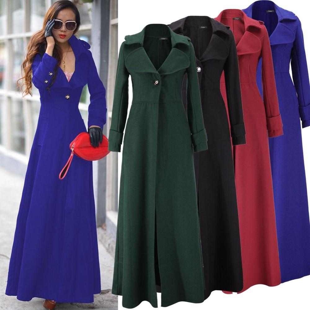 Aliexpress.com : Buy Women Winter Wool Coat X Long Military Dress