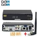 Freesat V8 de Oro Soporte DVB-T2 Receptor HD DVB-S2 Cccam cline Llave Biss Youporn Receptor de Satélite Completa 1080 P Con 1 UNID USB WiFi