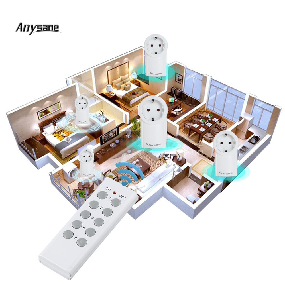 Universal remote control power socket learning remote 433 mhz wireless smart switch smart socket plug fo smart home automation