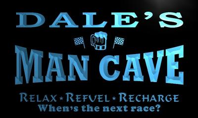 x0109-tm Dales Man Cave Pitstop Custom Personalized Name Neon Sign Wholesale Dropshipping On/Off Switch 7 Colors DHL