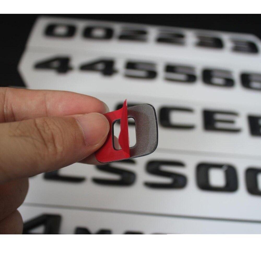 Черный глянец Магистральные письма эмблема значок для Mercedes Benz E43 E63 E55 AMG E320 E350 E300 E200 E400 E500 E250 e550 E420 4matic