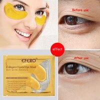 Efero 5 пар шт. = 10 шт. 24 К Золотая Сыворотка Коллагеновая маска для глаз антивозрастная против морщин Удаление темных кругов глаза сумки гель коллагеновый глаз патч