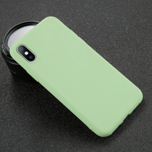 difoda Phone Case For iPhone 7 6 6s 8 X Plus 5 5s SE XR XS Max Simple Solid Color Ultrathin Soft TPU Candy Back Cover