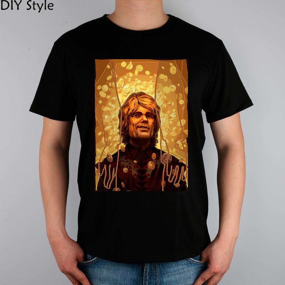 85f68050 இGAME OF THRONES Tyrion Lannister mężczyźni krótkim rękawem T-shirt ...