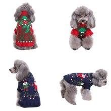 785bf5359214c Noël Pet chien chat hiver chaud tortue cou chandail manteau Costume  vêtements chien chandails pour petits chiens tricot drôle ch... € 3 ...