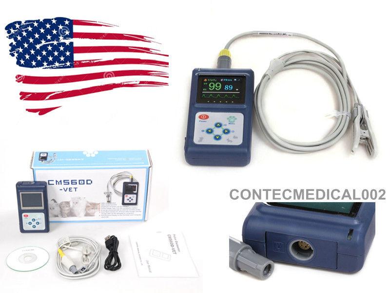 US seller CMS60D VET Veterinary Pulse Oximeter SpO2 PR monitor+ Vet Probe+ PC SW