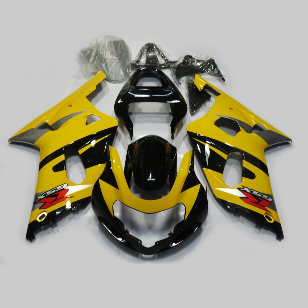 Motorcycle ABS Yellow & Black Painted Fairing Kit for SUZUKI GSXR 600 750 GSX-R 600/750 K1 2001-2003 Bodywork Fairings