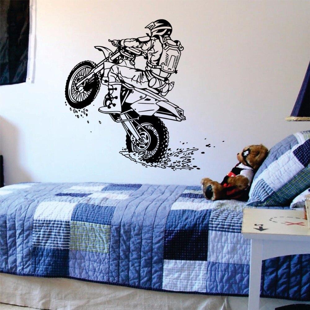 Buy dirtbike wheelie wall decal sports - Stickers para decorar paredes ...