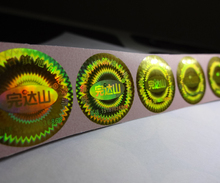 custom made self adhesive 3d printing hologram sticker label Free design void if removed