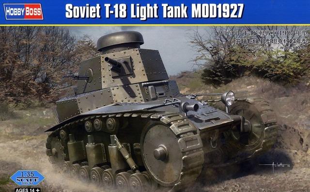 Modelo HobbyBoss 83873 1/35 Soviética Tanque Luz MOD1927 T-18
