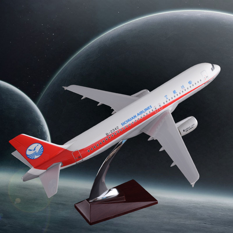 37cm Resin Sichuan Airlines Aircraft Model A320 Airplane Airways Airbus Model Aviation Home Decoration Creative Holiday Gifts 36cm a380 resin airplane model united arab emirates airlines airbus model emirates airways plane model uae a380 aviation model