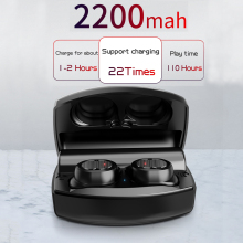 2200mAh HiFi Wireless Headphone Bluetooth Earphone TWS 5.0 Headset IPX5 Waterproof Earbuds Stereo Sport