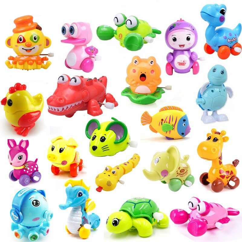 Wind Up Animals Toys Baby Classic Cute Cartoon Clockwork Kids Running Crocodile Octopus Children Educational Toy Birthday gift