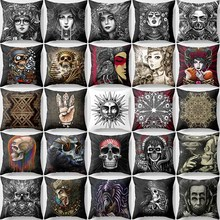 Hot sale many styles  funny picture high printing pattern women men Pillow case boys girls weeping willow size 45*45cm