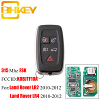 BHKEY 315Mhz 433Mhz 5Buttons Remote key Fob For Land Rover LR4 Range Rover Evoque Sport KOBJTF10A Original remote control key