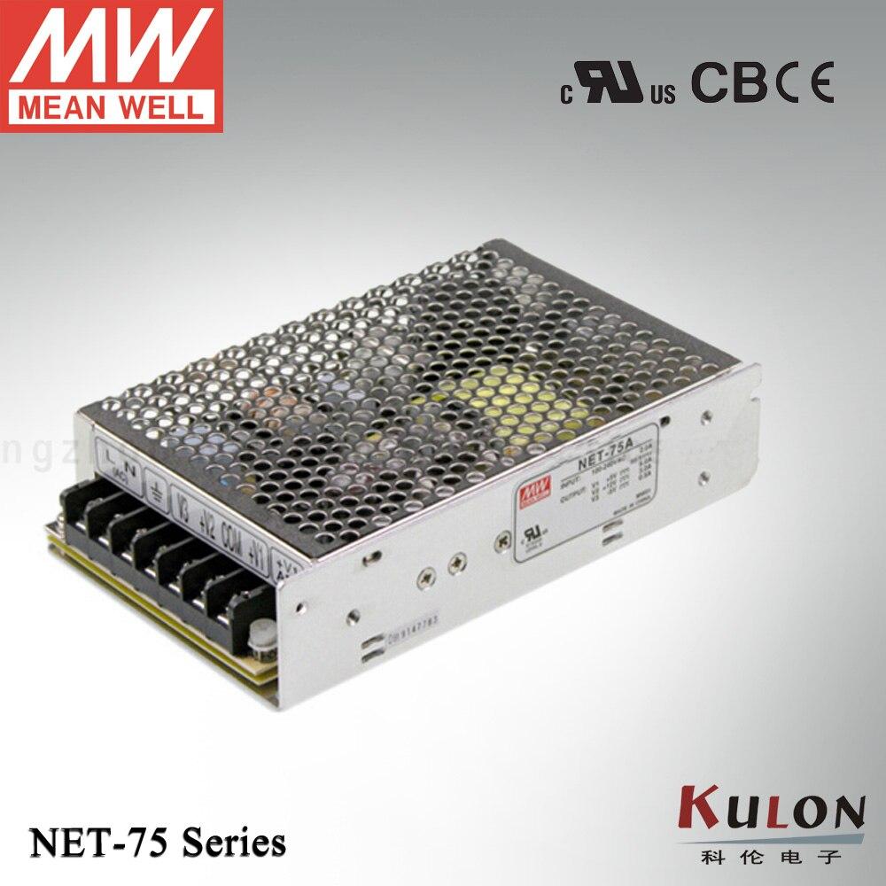 все цены на Original Mean well NET-75D 72W Triple output 5V 24V 12V Meanwell power supply онлайн