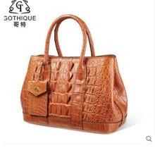 gete 2019 New crocodile handbag for lady Thai leather fashion large capacity killer bag fashionable women