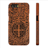 New One Plus 5 Retro Bamboo Wood Skull Carving Case For Oneplus 5 Novelty Wooden Case