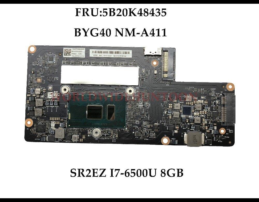 High quality BYG40 NM A411 for Lenovo YOGA 900 13ISK Laptop Motherboard FRU 5B20K48435 SR2EZ I7