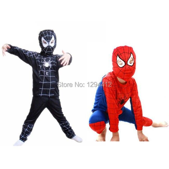 Anime Cosplay Red Spiderman Costume Carnevale Kids Black Spiderman Disfraces Carnaval Karneval Costume Boys for Halloween Clothe