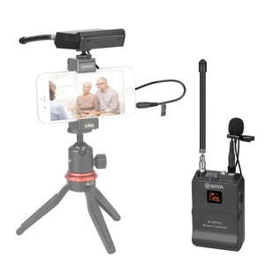 Image 5 - BOYA BY WFM12 VHF Wireless Microphone System Lapel Lavalier Mic for iPhone 8 7 plus Smartphone DSLR Camera Video Live Recording