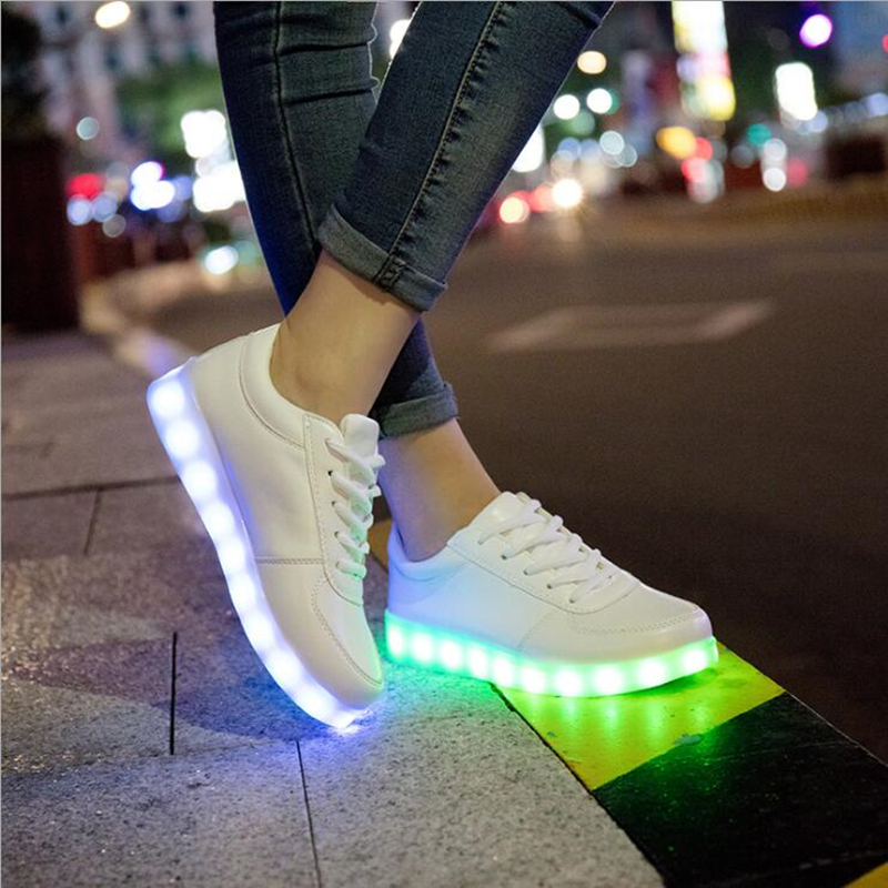 usb led shoes children's luminous shoes sneakers with kids light up shining glowing shoes for girls slippers lights schoenen wholesale cheap lights up led luminous casual shoes high glowing with charge simulation sole for women