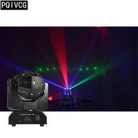 LED Moving Head Light Laser Strobe Beam 3in1 Infinite Rotation Beam Disco 16x3w rgbw led