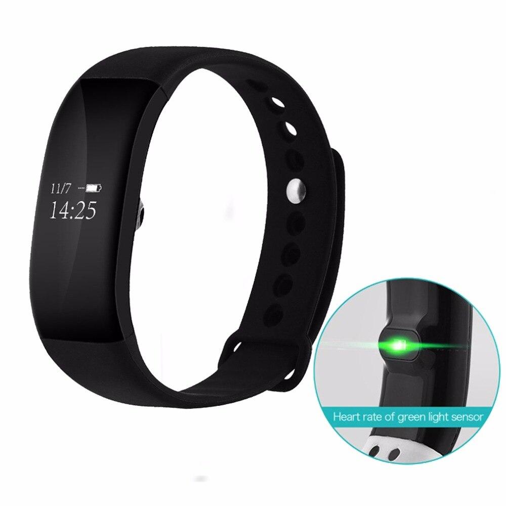 V66 Smart Bracelet Bluetooth 4.0 IP67 Étanche La Pression Artérielle Moniteur de Fréquence Cardiaque Sport Smart Bracelet pour Android iOS Téléphone