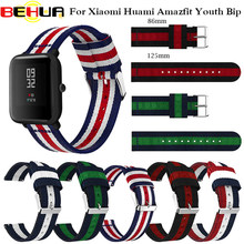 Strap Replace Watch Straps for Amazfit Youth Nylon Straps for Xiaomi Huami Bip BIT PACE Lite Youth Smart Watch Wrist Bracelet(China)