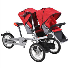 16 inch Brand New Kids Bicycle Stroller Aluminum Alloy Mother Baby Stroller Bike Twins Bike Strollers Double Baby Seat  Bicycle