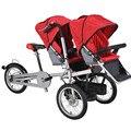 16 pulgadas de la Marca Nueva Bicicleta Niños Cochecito De Aluminio De Aleación Madre Bebé Bicicleta Cochecito Gemelos Bicicleta Cochecitos de Bebé Doble Asiento de La Bicicleta