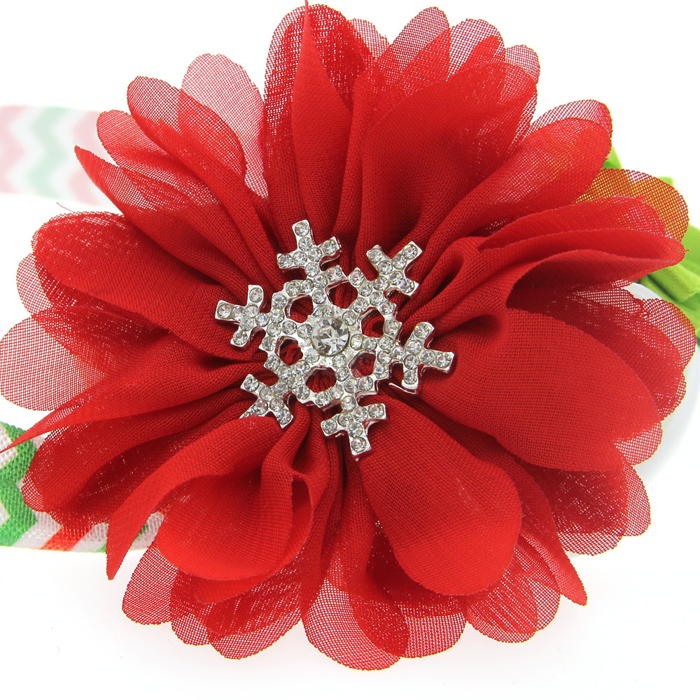 Online get cheap red flower accessories aliexpress alibaba 1pcs lovely snowflake red flowers christmas hair bows boutique headband kids hair accessories best merry christmas dhlflorist Choice Image