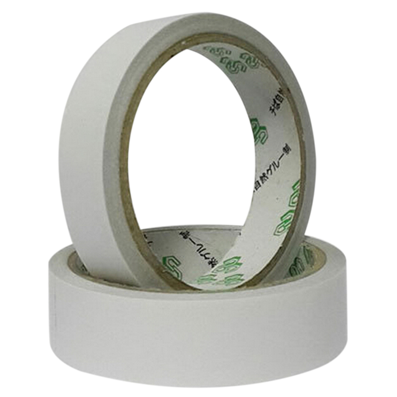 2 Rolls 10M Hot Powerful Double Faced Adhesive Tape Paper Double Sided Tapes For Mounting Fixing Pad Sticky