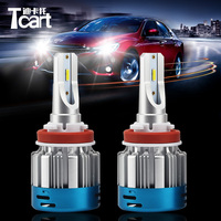 Tcart 1Set High Power Auto Led Bulbs 527D H11 Replace Lights Source Car Accessories Head lamps For Toyota Car LED Headlights Kit