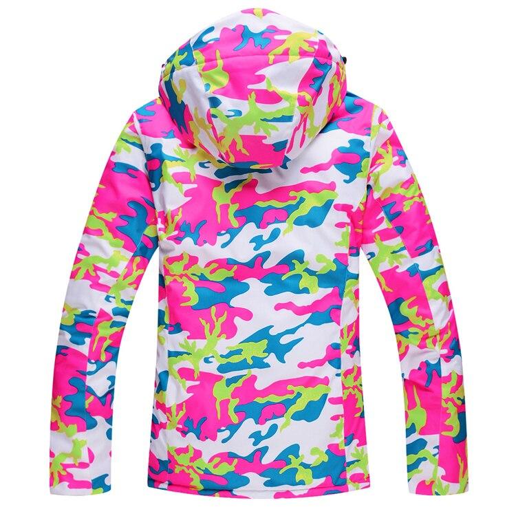 Veste de Ski pas cher femmes Ski Snowboard vêtements de Ski coupe-vent imperméable-30 vestes de Ski en plein air hiver neige custome - 3