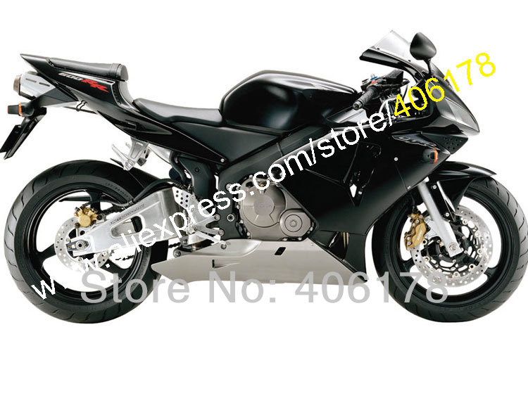 Hot Sales,Fairings For Honda CBR600RR F5 2003 2004 CBR 600 RR 03 04 CBR600 600RR Black Gray ABS Fairing Set (Injection molding)