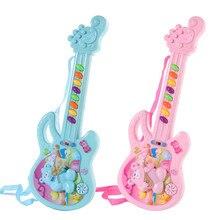 Электрическая игрушечная гитара музыкальная игра для маленьких мальчиков и девочек, обучающая электронная игрушка