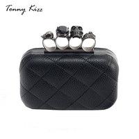 Tonny Kizz fashion women clutch designer crossbody bags for women evening bags PU leather skull clutch party handbags clutch
