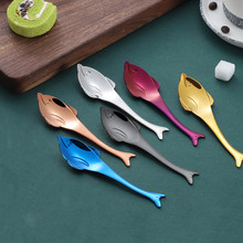 Dropshipping Colorful Marine Animal Spoon Handle Ice Cream Drinking To