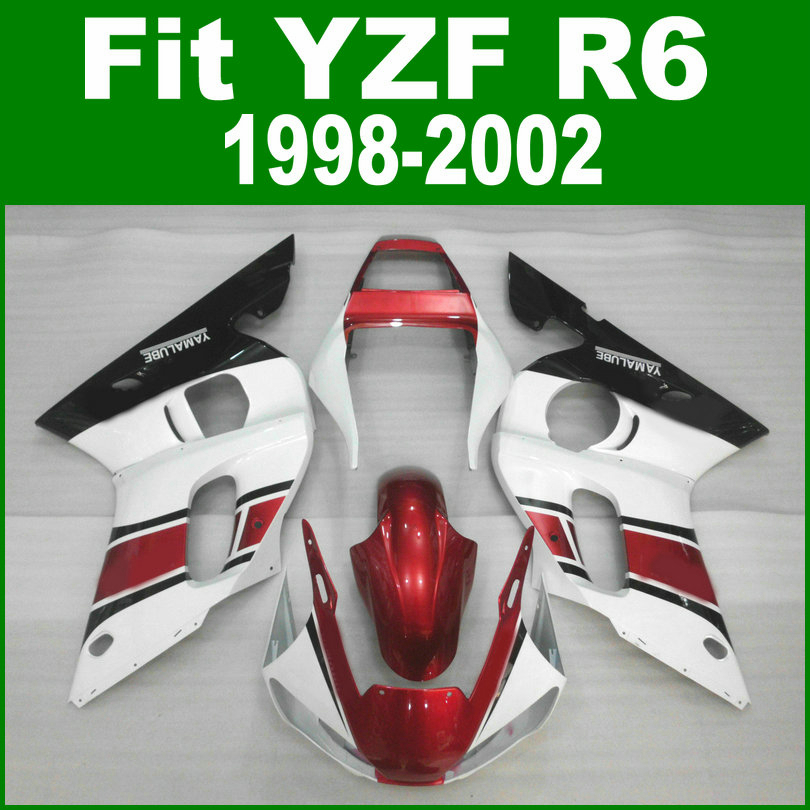 Wine red For YAMAHA R6 98 - 02 Abs Fairing kit ( metallic ) free sticker customize Fairings ll15