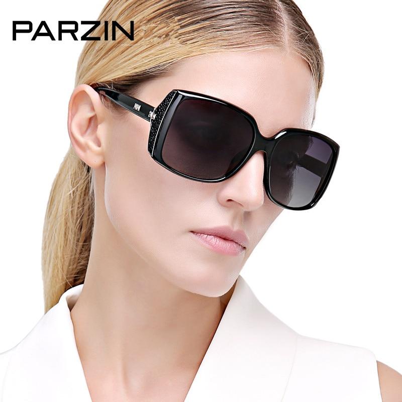 PARZIN Women Sunglasses Fashion Vintage Big Frame Female Sun Glasses Women's Polarized Shades Sunglasses