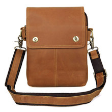 1006B Genuine Cow Leather Waist Day Pack Cross Body Fanny Bag for Men