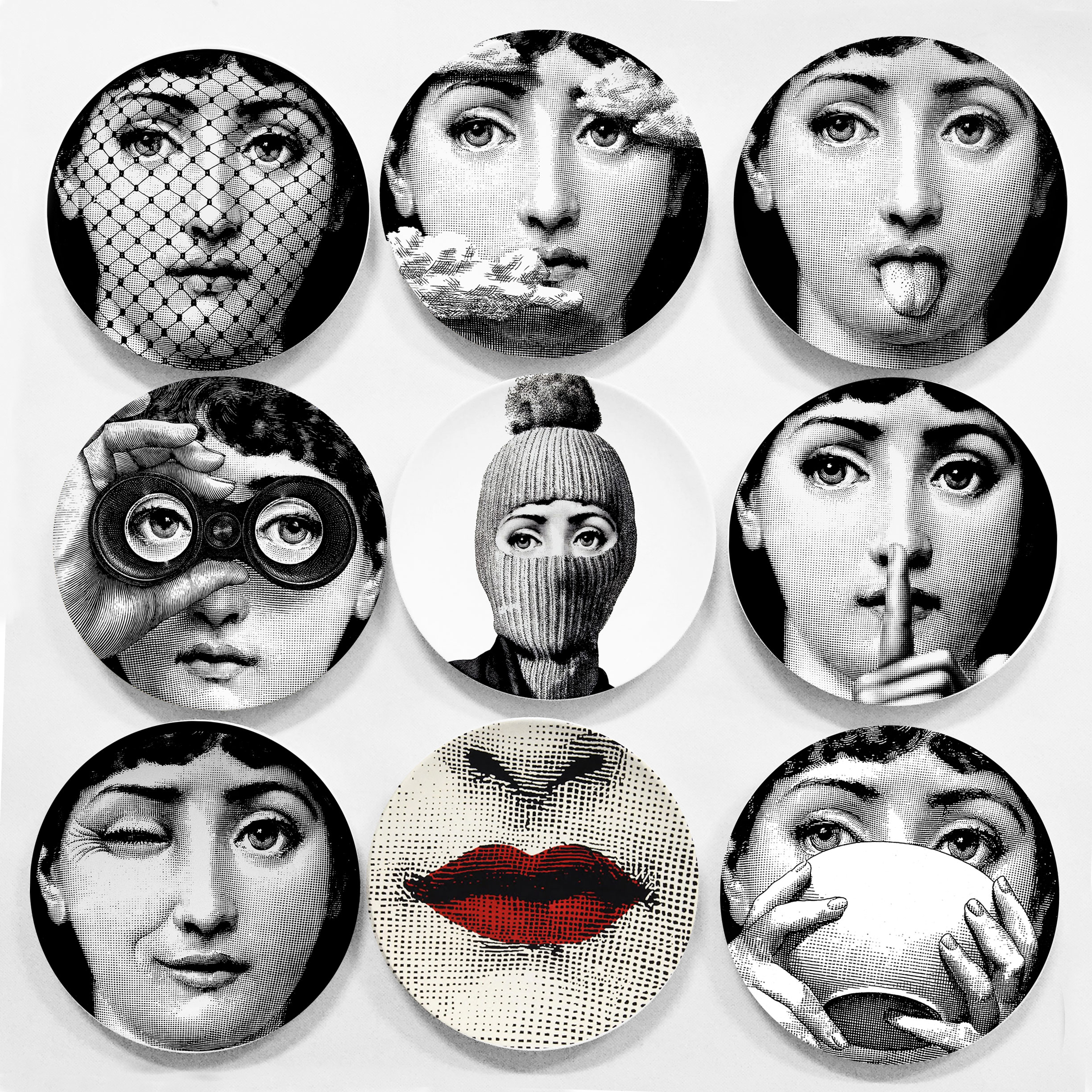 hot sale piero fornasetti plates beauty illustration hanging decorative craft dishes home hotel. Black Bedroom Furniture Sets. Home Design Ideas