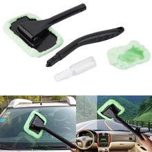 Foldable Car Windshield Brush Long Handle Car Wash Brush ABS+Microfiber Car Cleaning Brush Handy Washable Car Cleaning Products