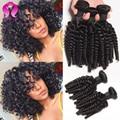 Grade 7A 3 pcs Lot Brazilian afro curly, Unprocessed Brazilian Human Hair Weaves 3 bundles, Free Shipping Brazilian Virgin Hair