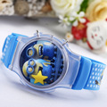 Despicable Fashion Casual Cartoon Watches Dial Quartz Wristwatch Kid Silicone Strap Children Watches Boy Girl Gift Relogio Male