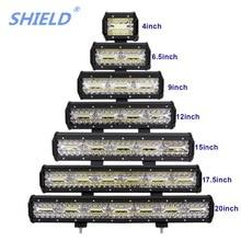 4 6,5 9 12 15 17,5 20 дюймов внедорожный светодиодный рабочий светильник 12 в 24 в 60 Вт 180 Вт автомобиль грузовик 4WD внедорожник ATV прицеп пикап вагон 4X4 комбо лампа